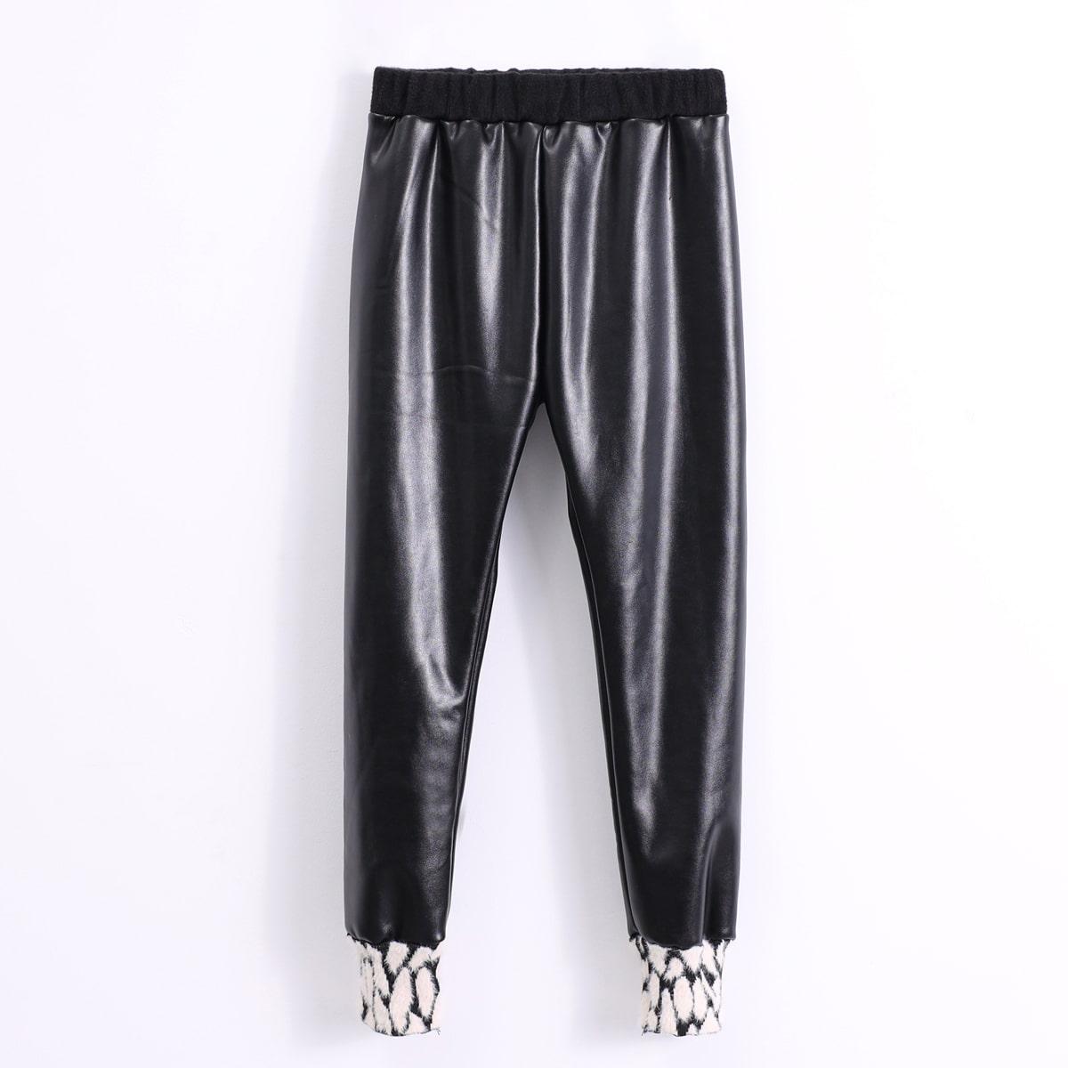 Графический принт повседневный брюки для девочек