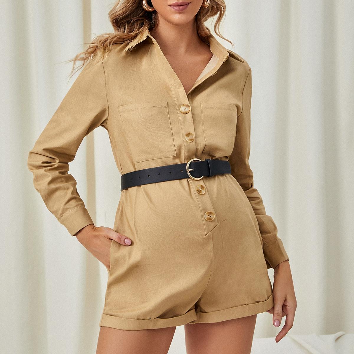 Комбинезон для беременных с пуговицами и карманом