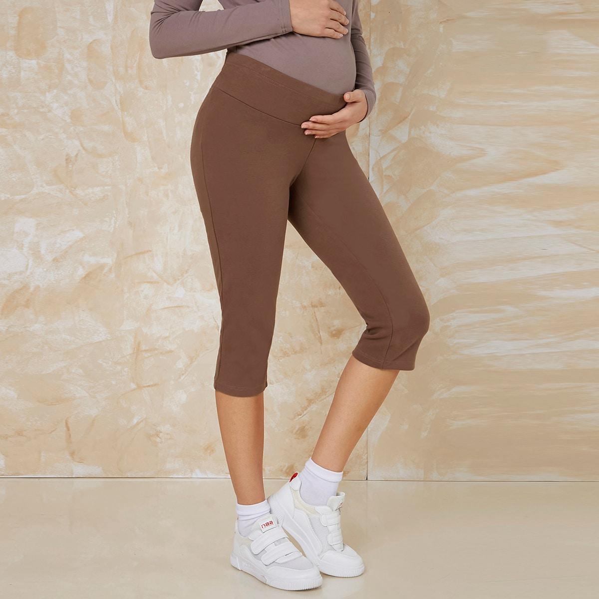 Платье для беременных однотонные леггинсы средней длины