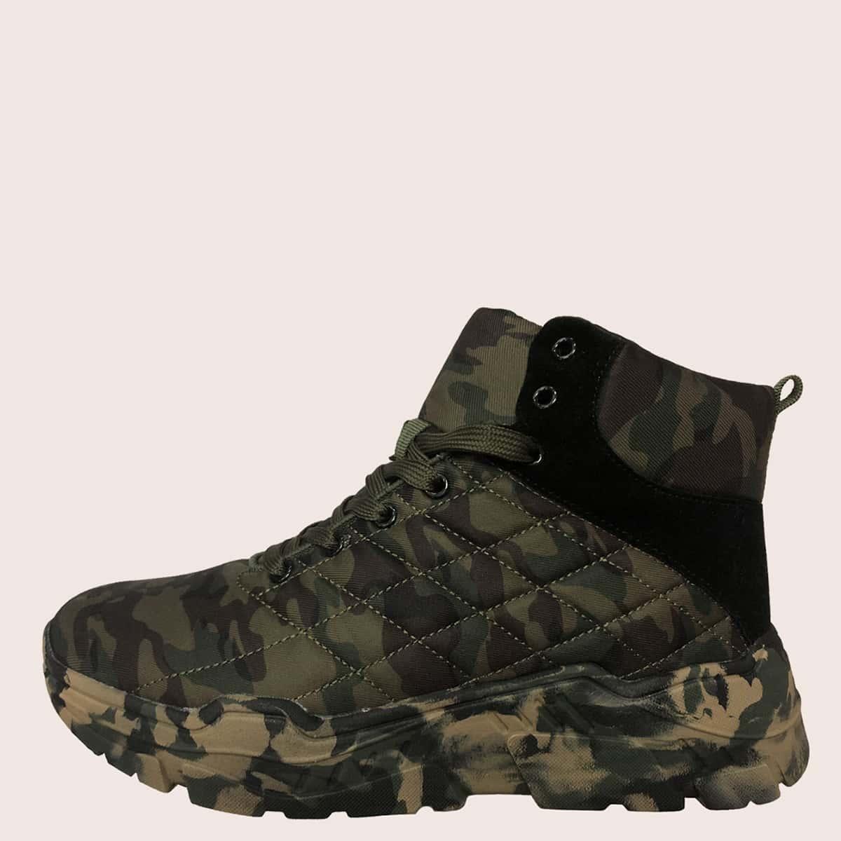 Без молнии камуфляж мужские ботинки