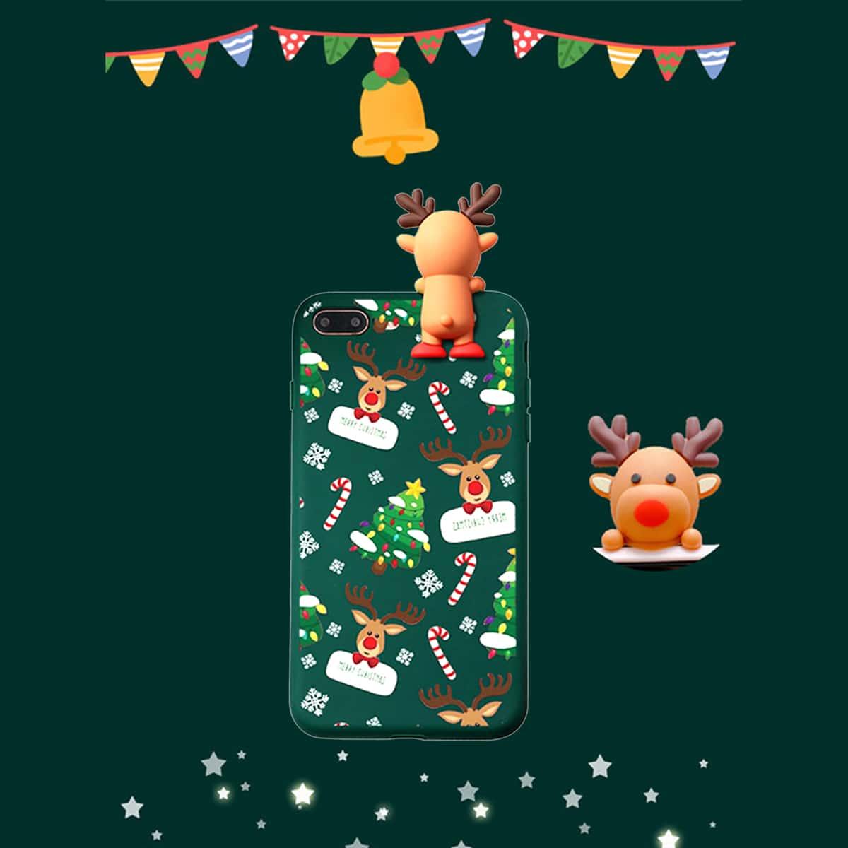 Weihnachten Handyhülle mit Hirsch Dekor