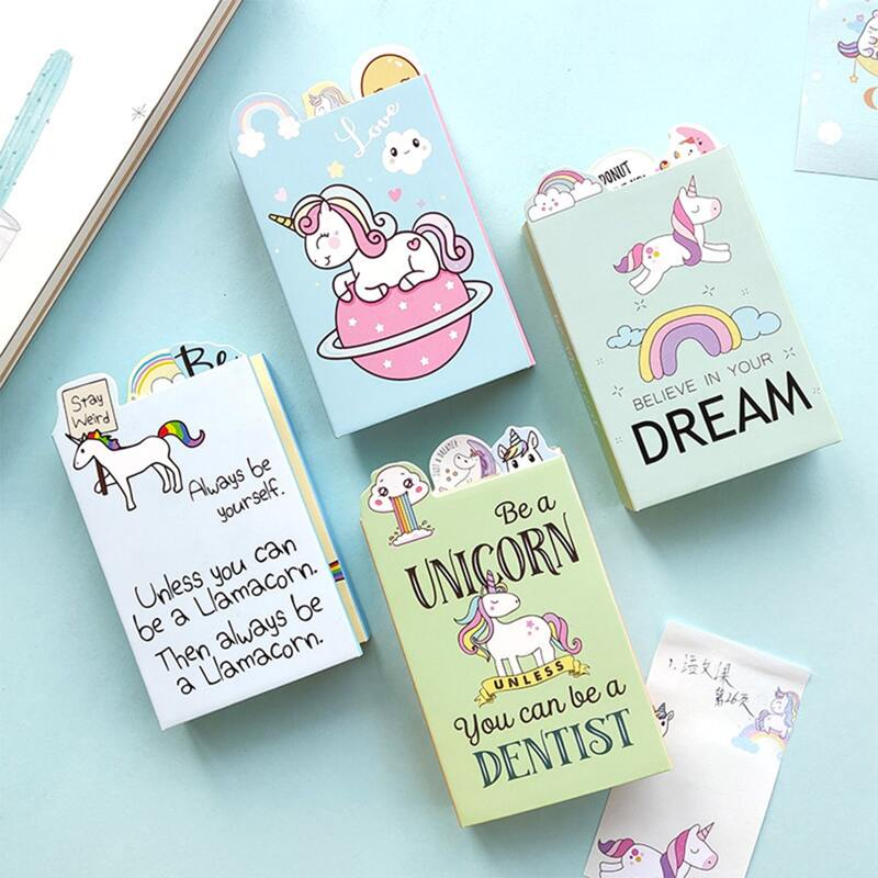 1pack Unicorn Print Random Sticky Note, Multicolor