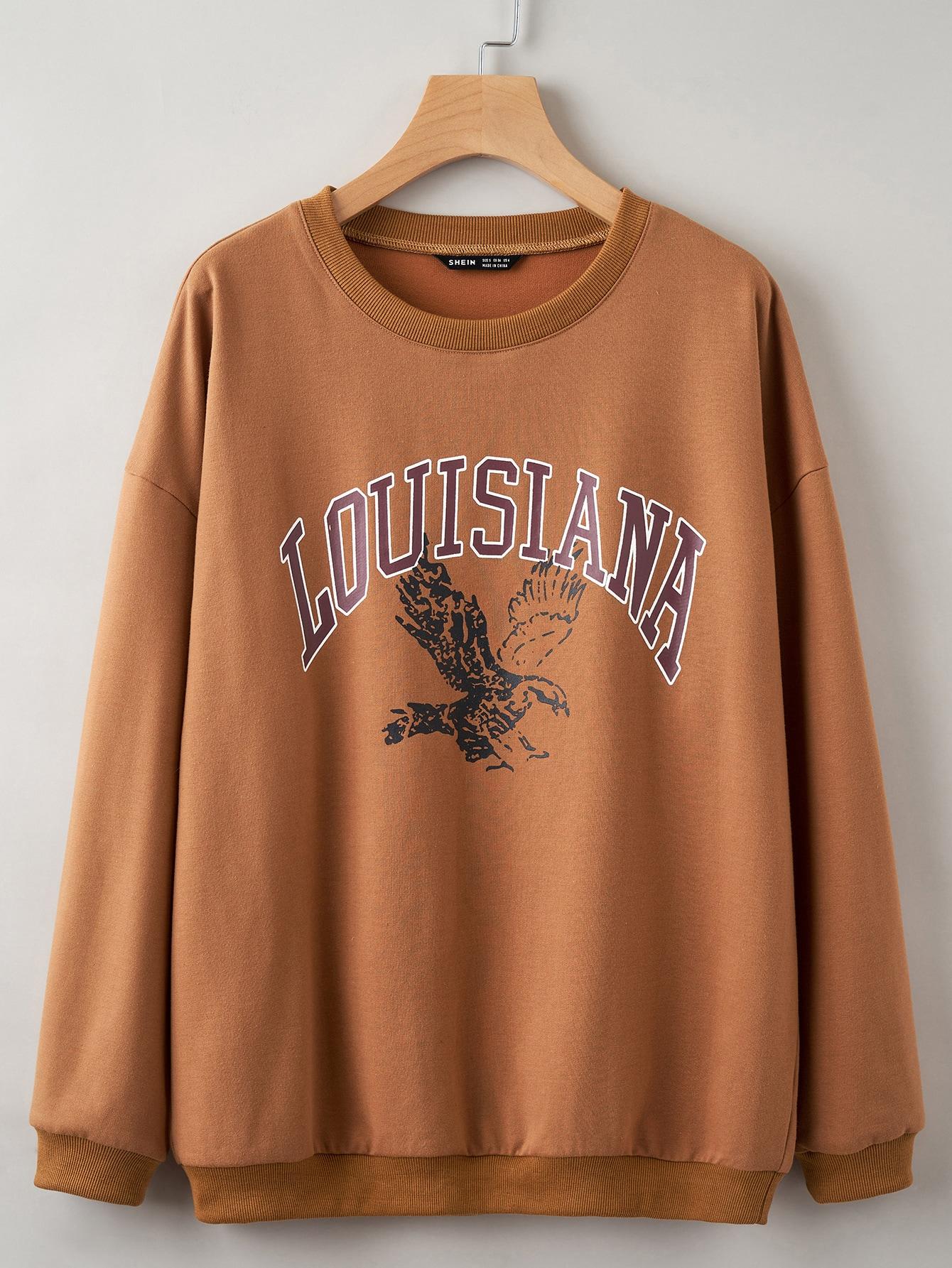 Plus Eagle & Letter Graphic Sweatshirt thumbnail
