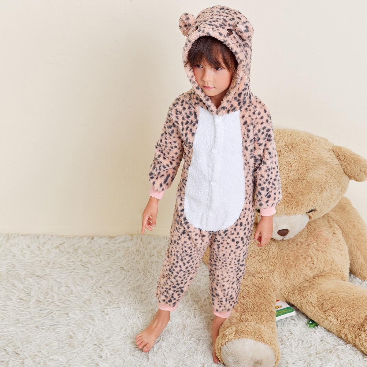 Леопардовый принт милый домашняя одежда для девочек