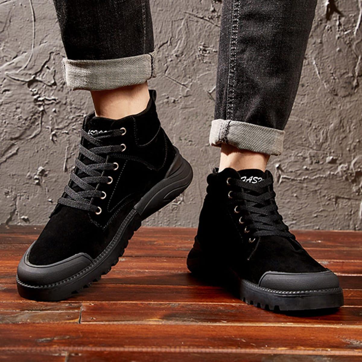Без молнии одноцветный мужские ботинки