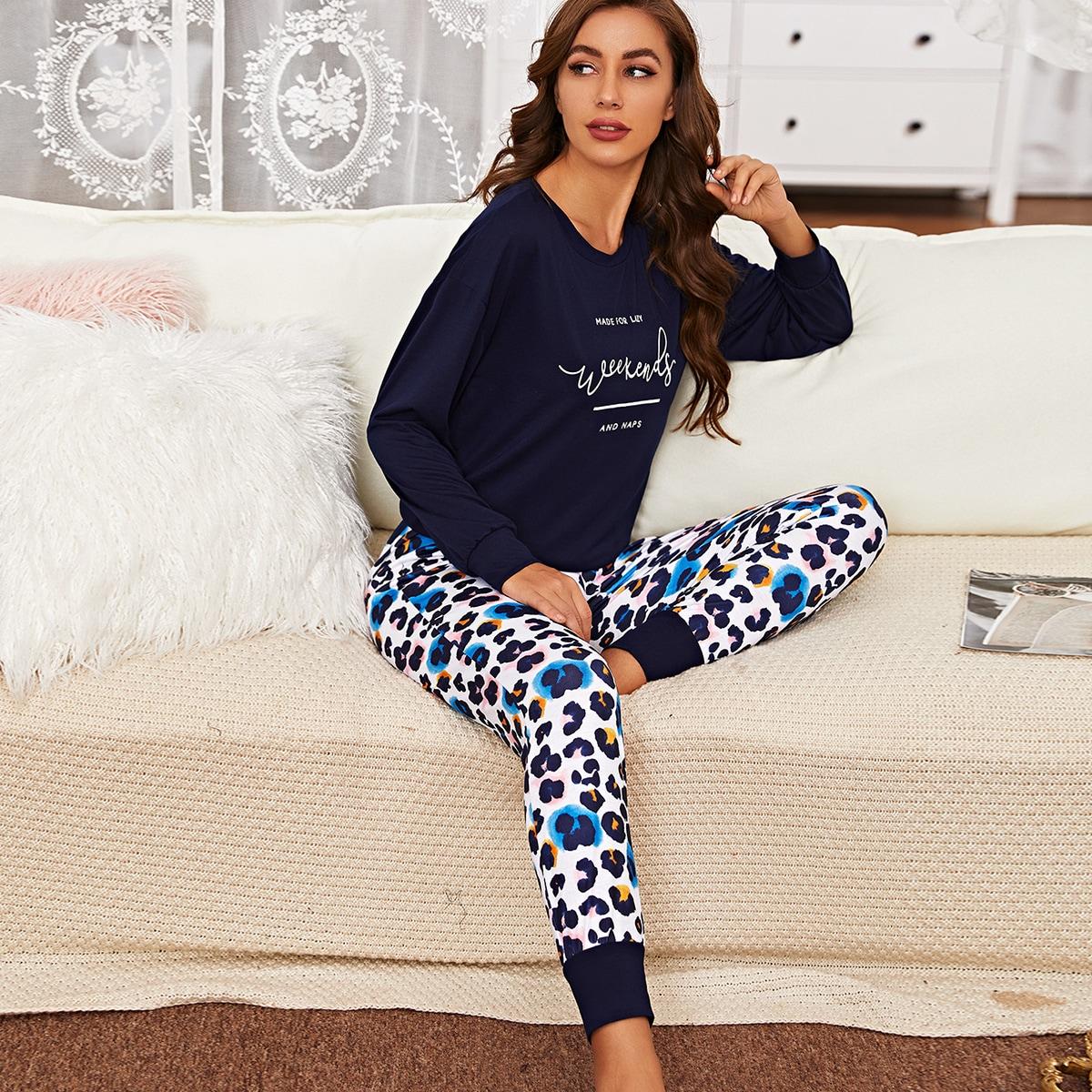 Лозунг повседневный пижама