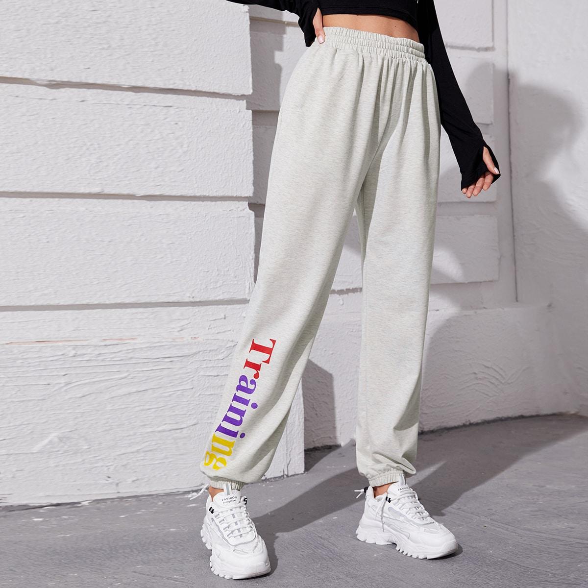 С карманами буква спортивные брюки