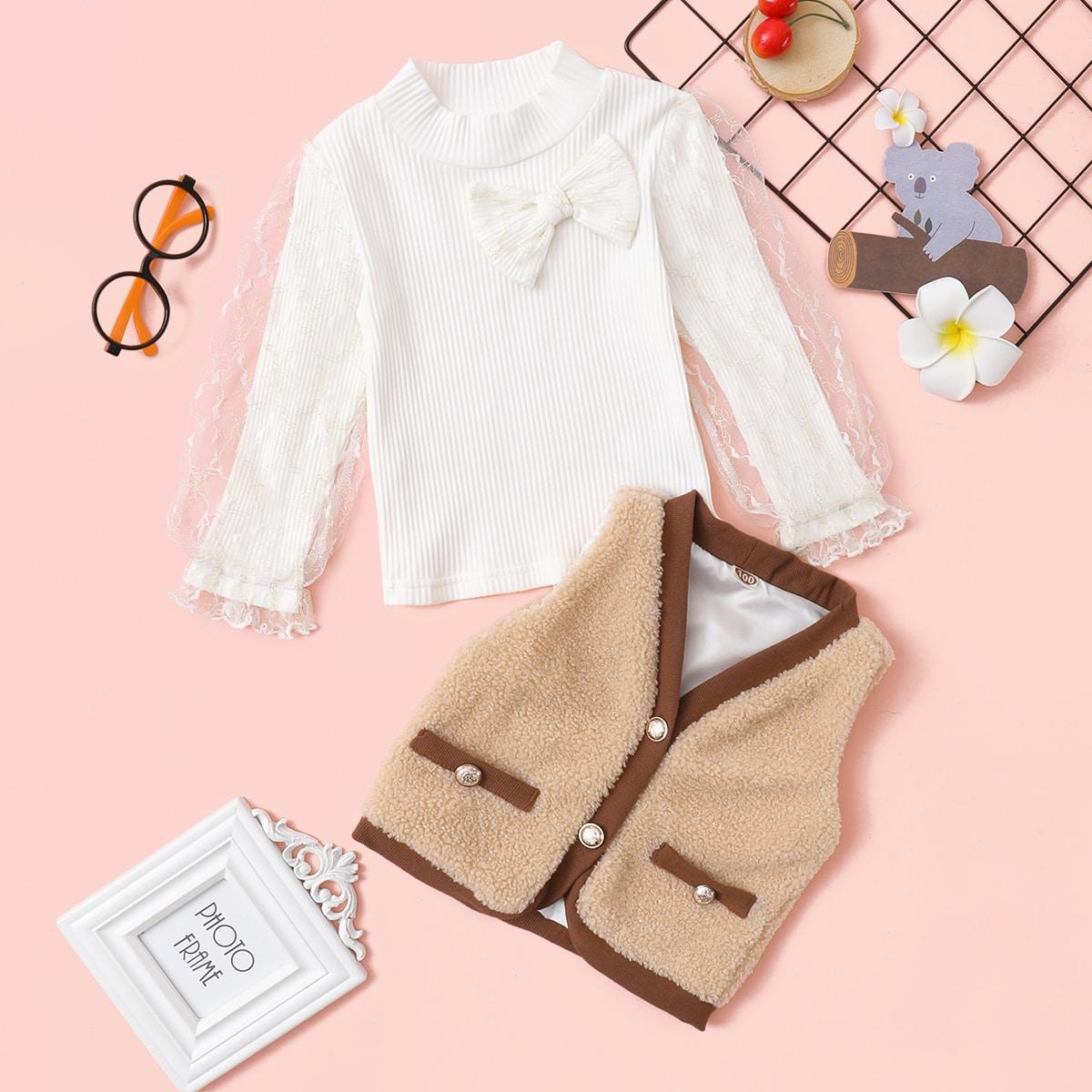 На пуговицах контрастный цвет повседневный куртки для девочек