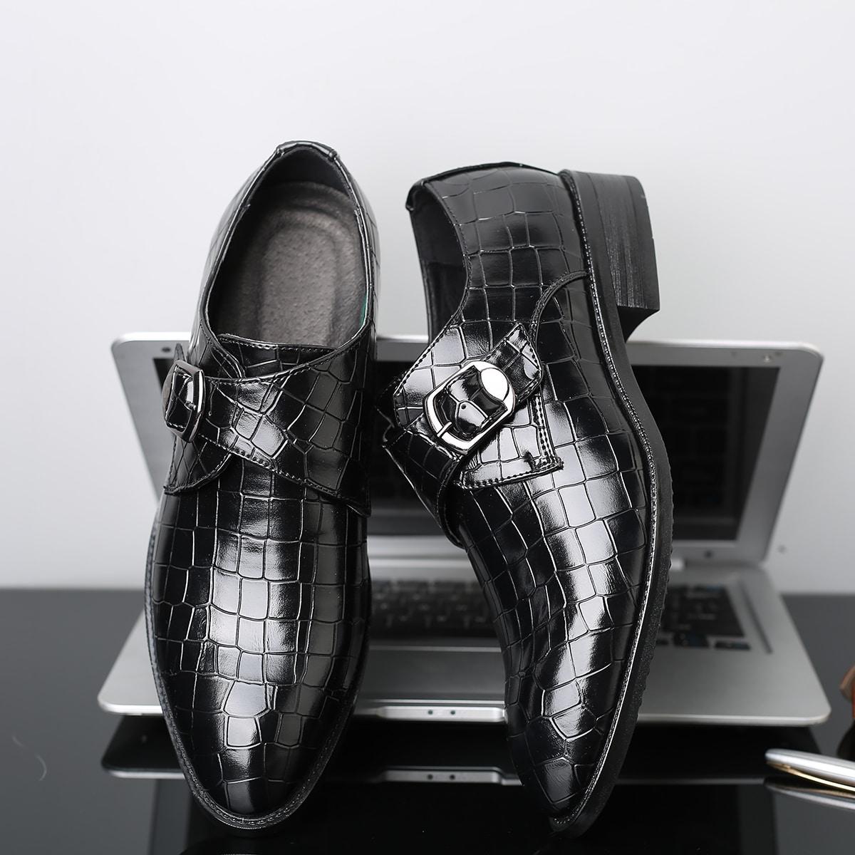 Пряжка крокодил мужская официальная обувь