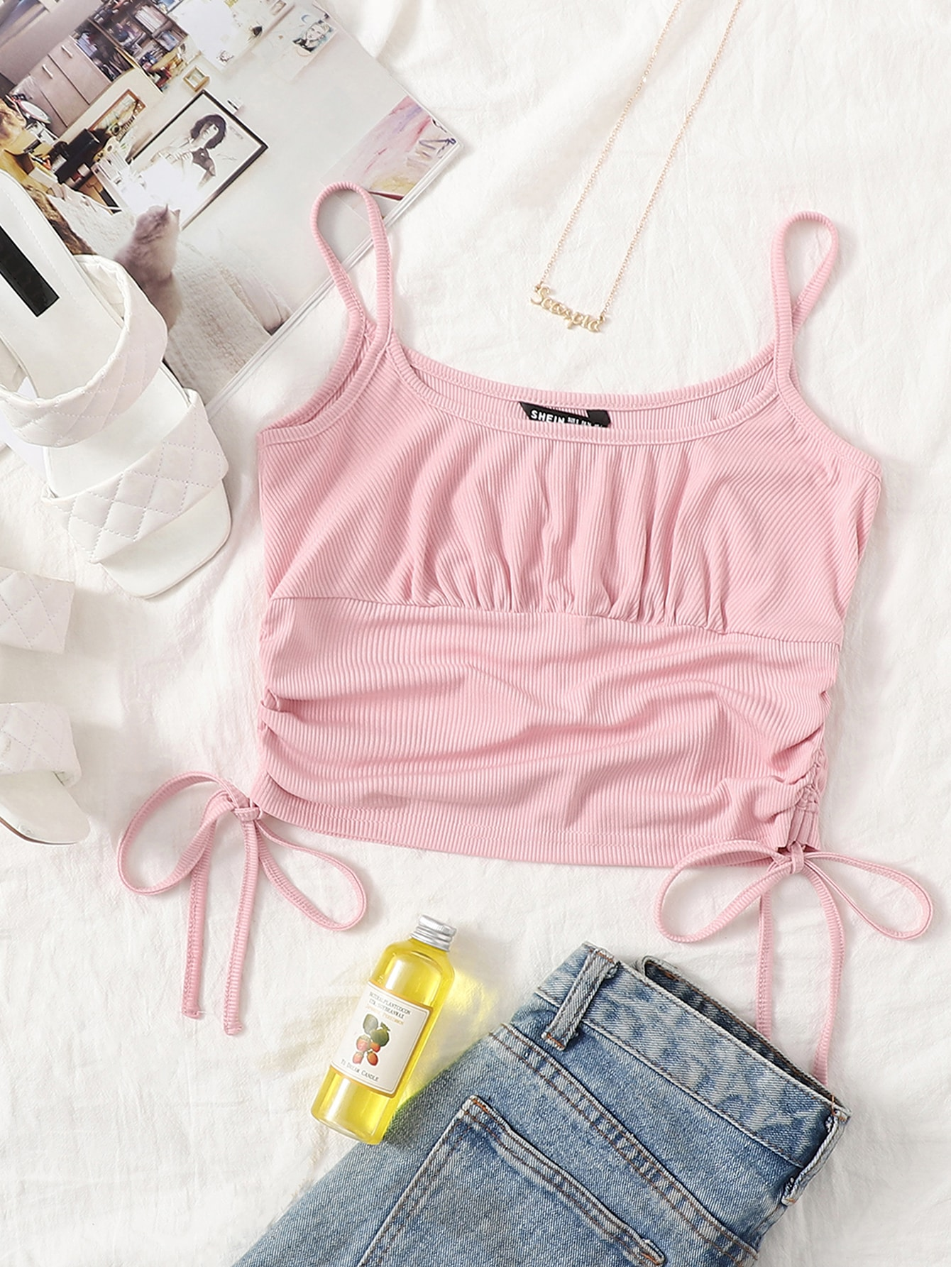 Drawstring Knot Side Cami Top thumbnail