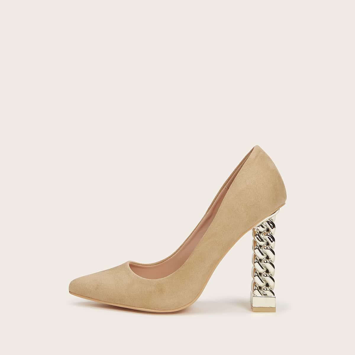 Замшевые туфли на высоком каблуке от SHEIN