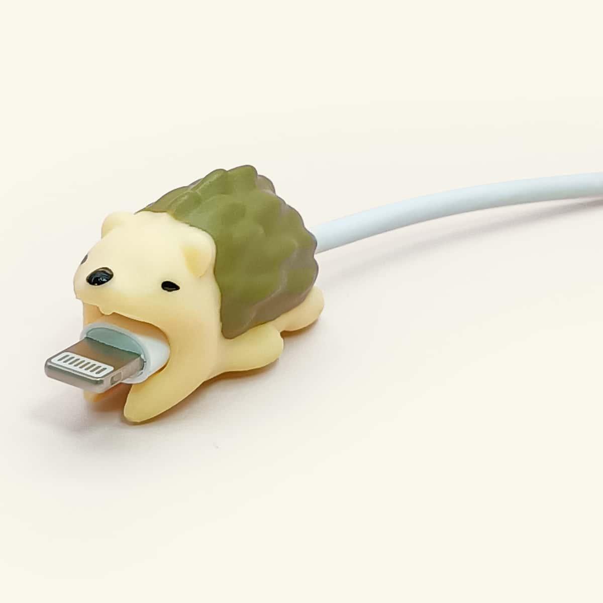Cartoon Hedgehog Design Data Cable Protector