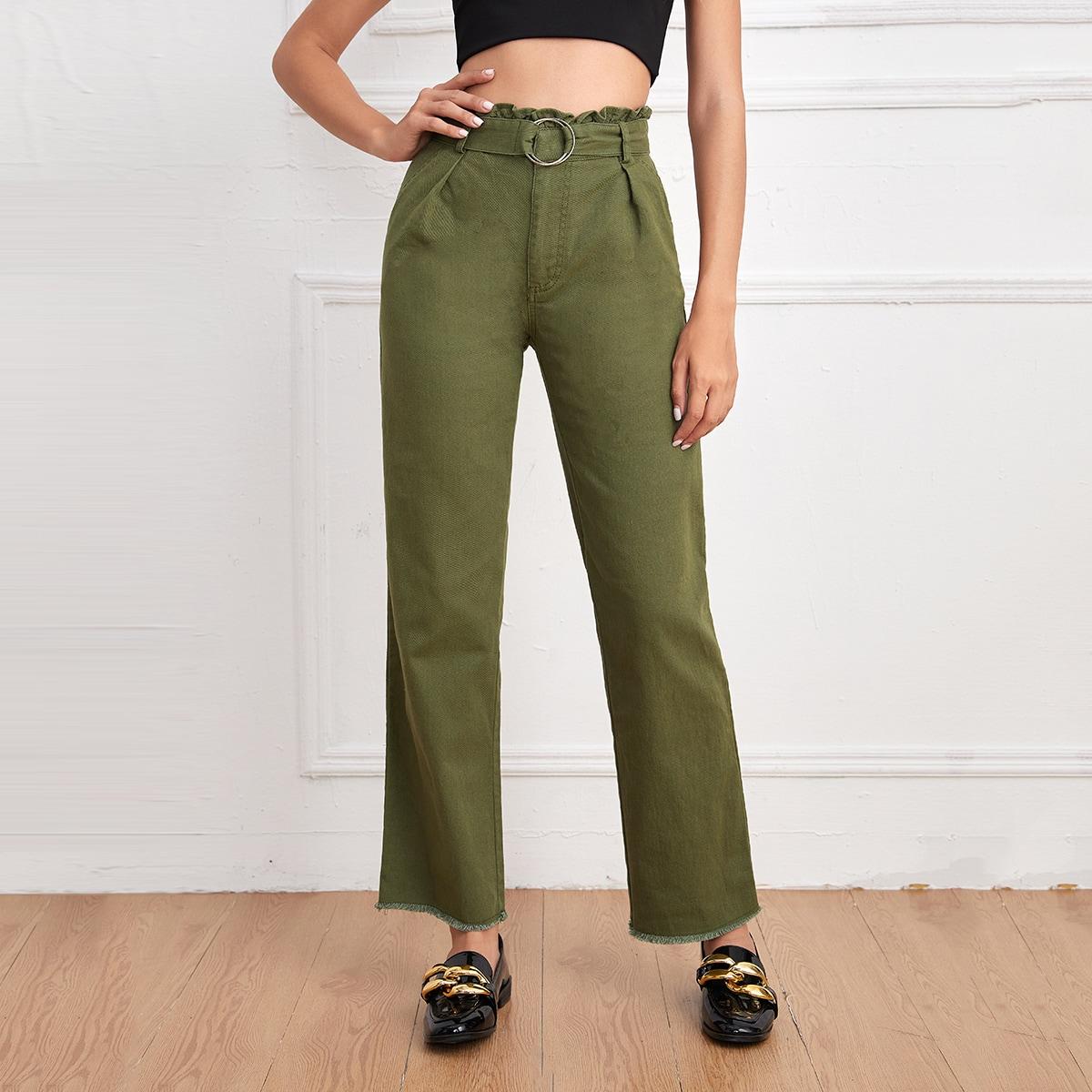 Карман одноцветный повседневный джинсы