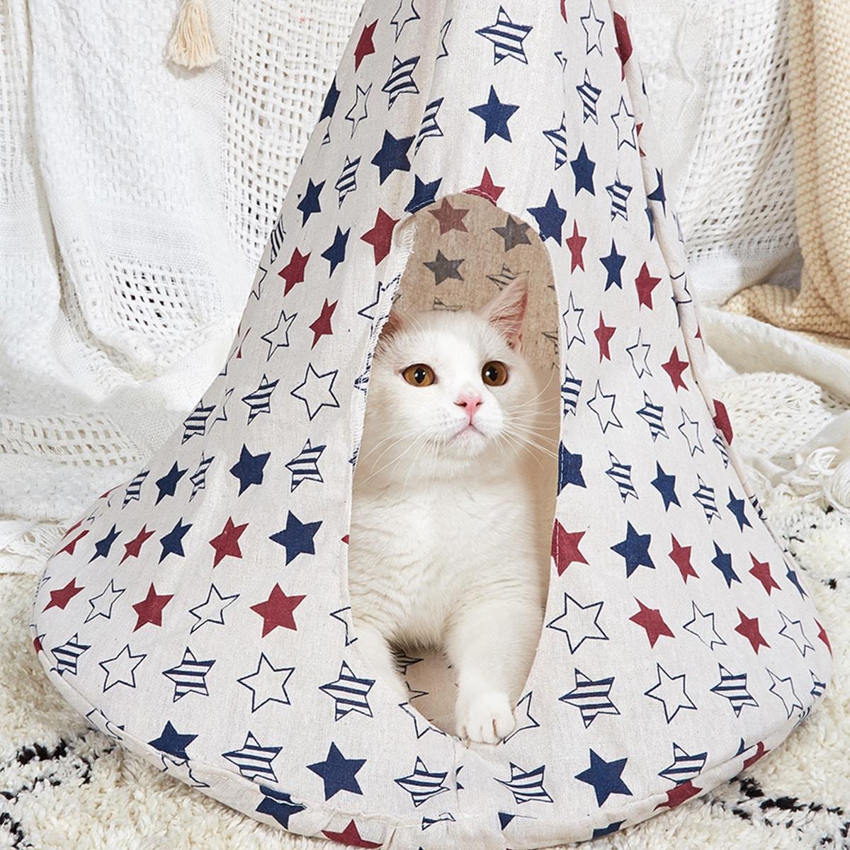 1 pièce Hamac de chat à imprimé étoiles