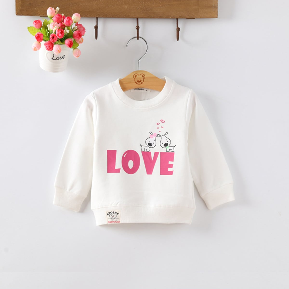 Toddler Girls Cartoon And Letter Graphic Sweatshirt