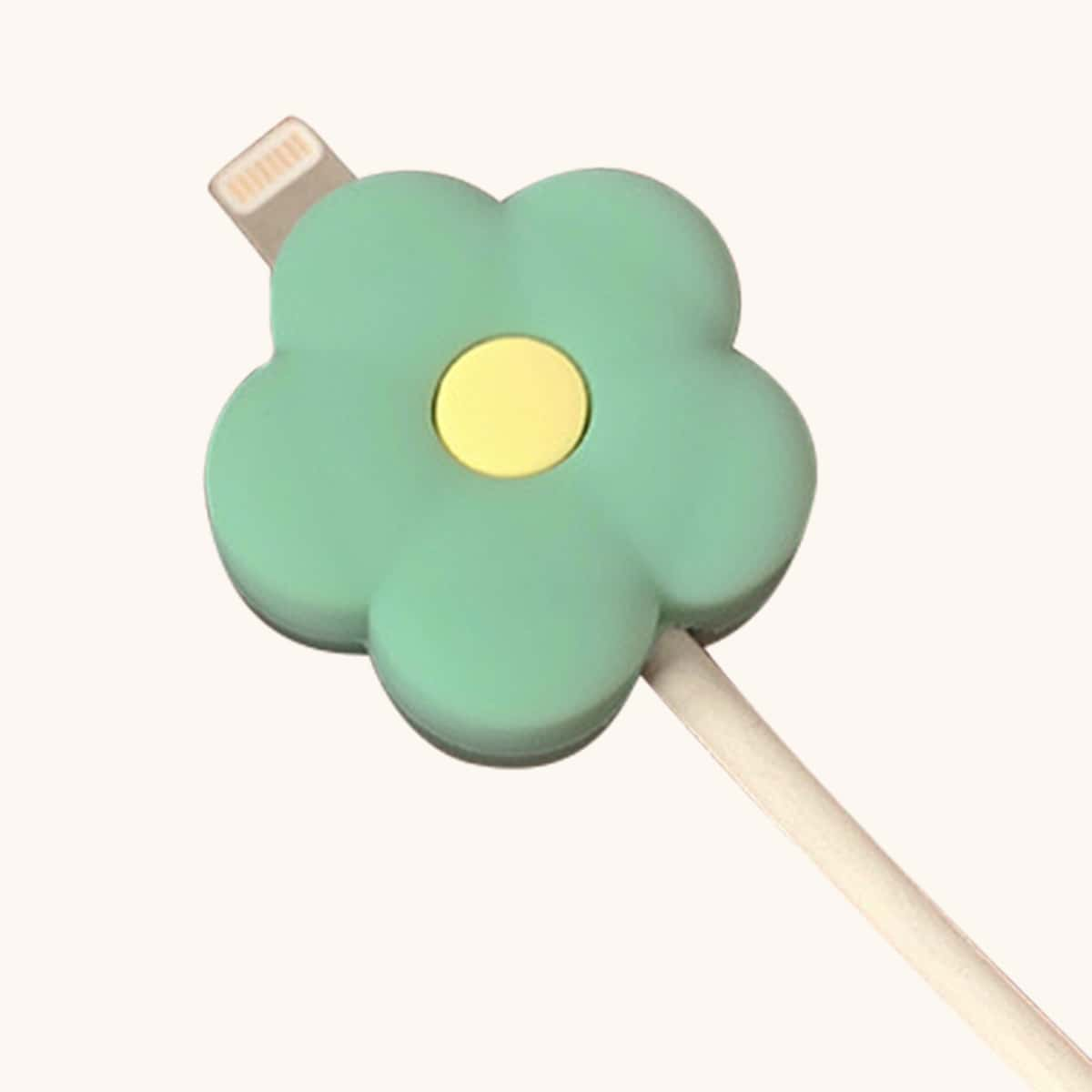 Flower Design Data Cable Protector