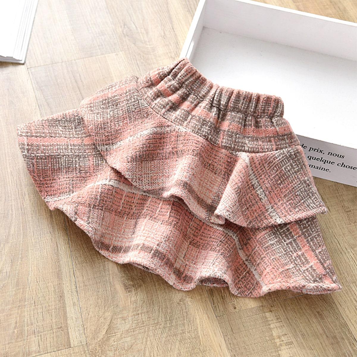 Многослойный институтский юбки для девочек