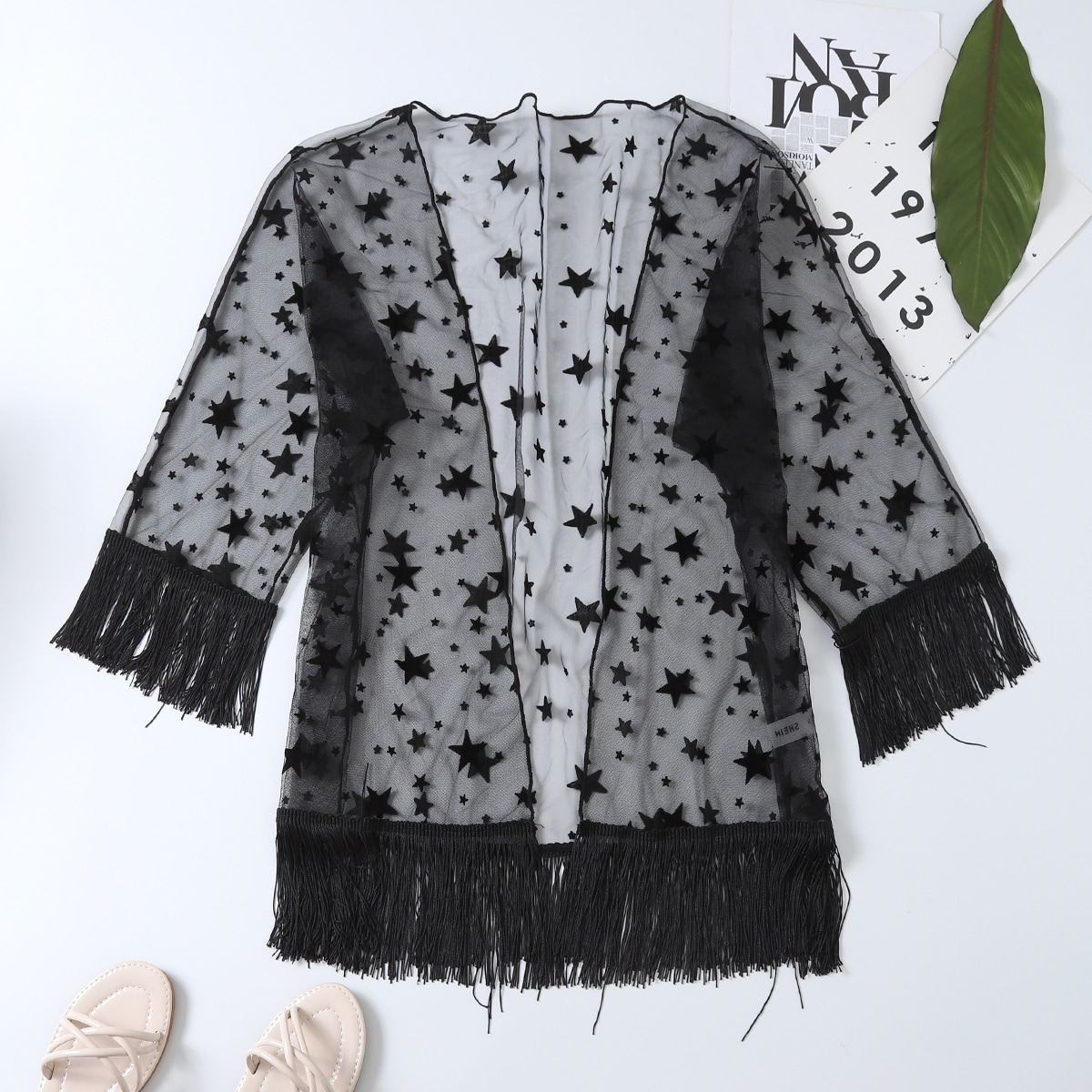 Бархома геометрический кимоно