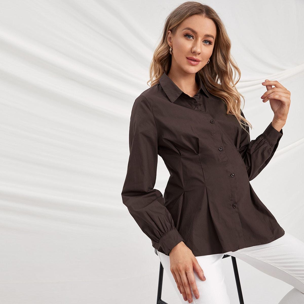 Блуза для беременных с пуговицами
