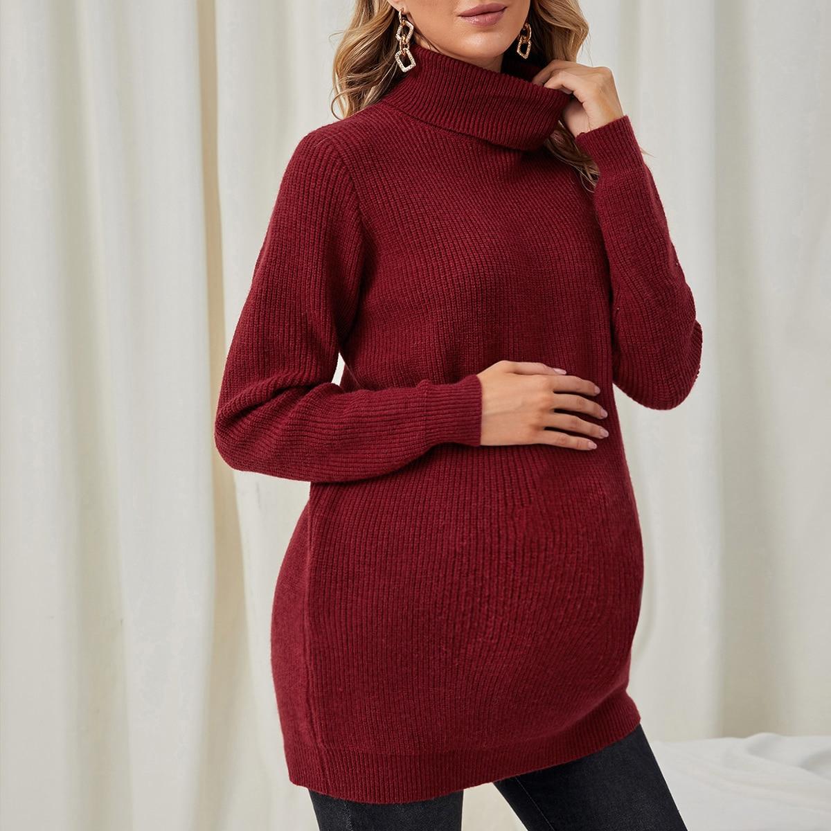 Одноцветный повседневный свитеры для беременных