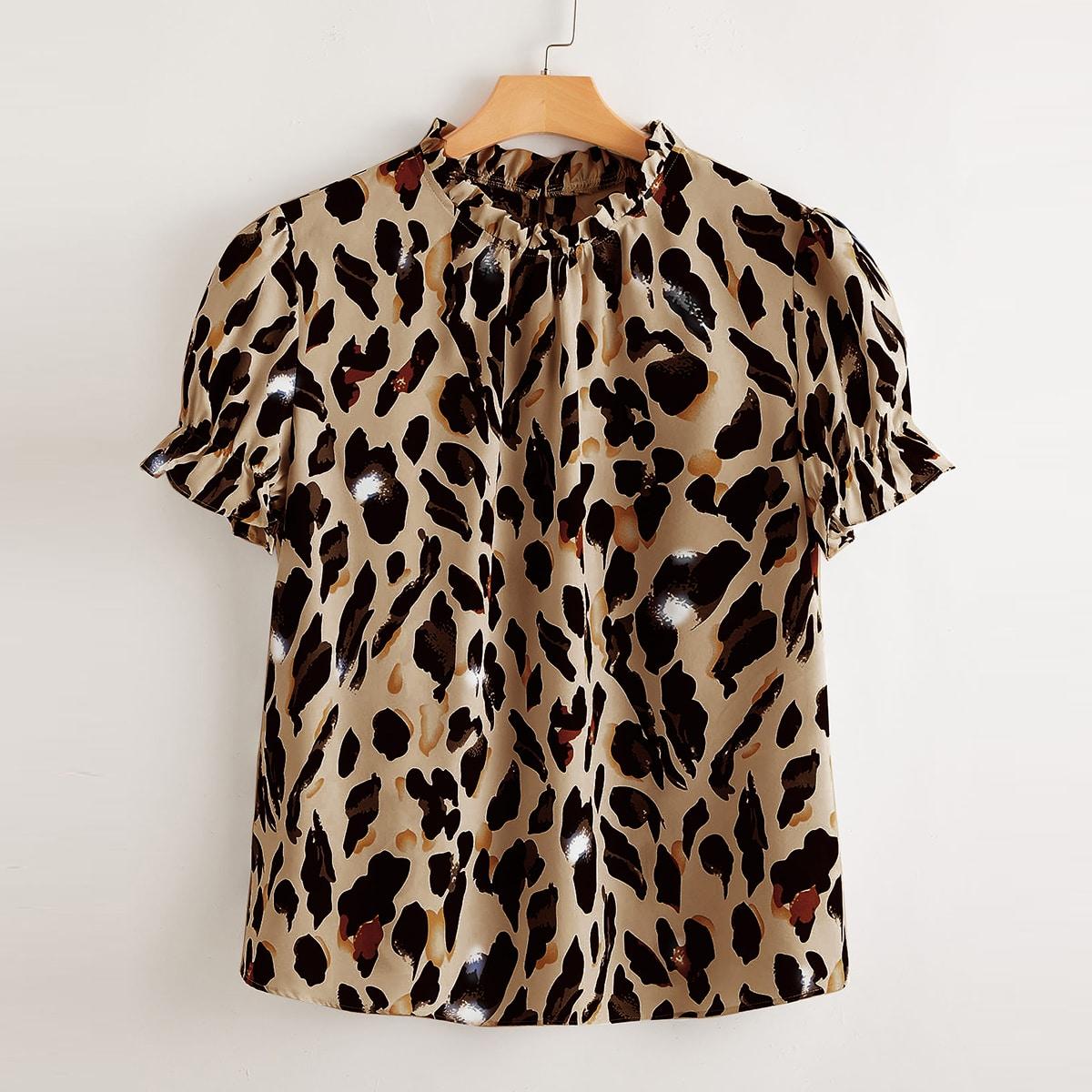 Блузка размера плюс с принтом