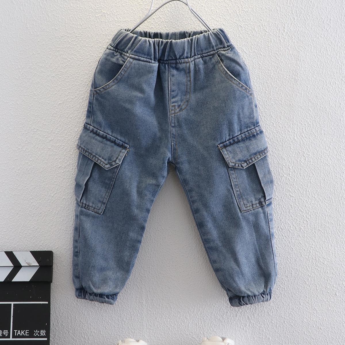 Карман одноцветный джинсы для мальчиков