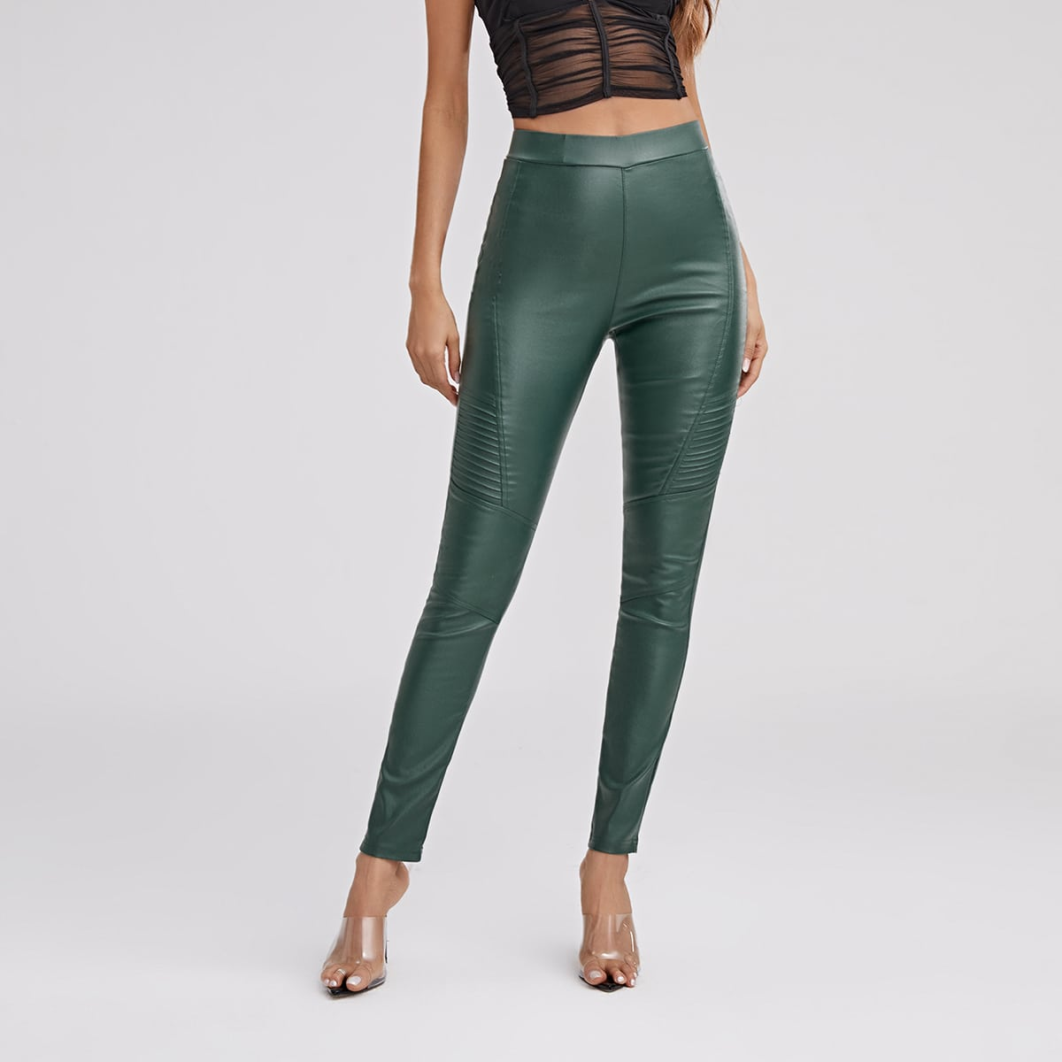 Одноцветный повседневный джинсы