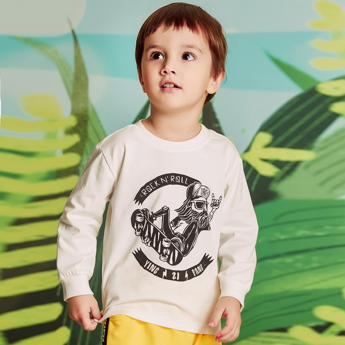 Toddler Boys Figure And Letter Graphic Tee