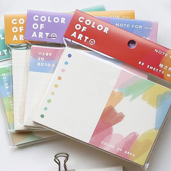 1pack Graffiti Pattern Random Memo Pad, Multicolor