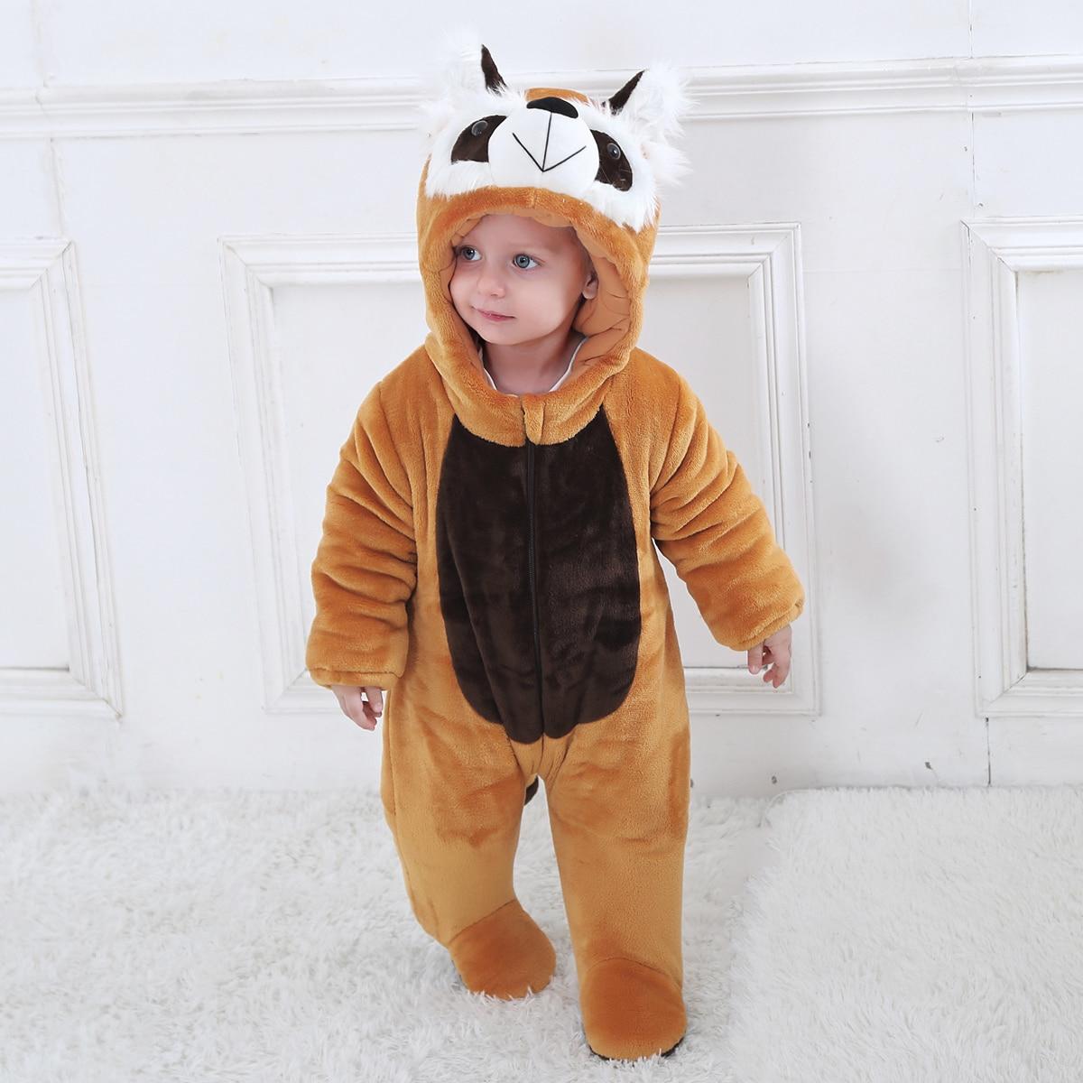 На молнии мультяшный принт костюм с дизайном  для малышей