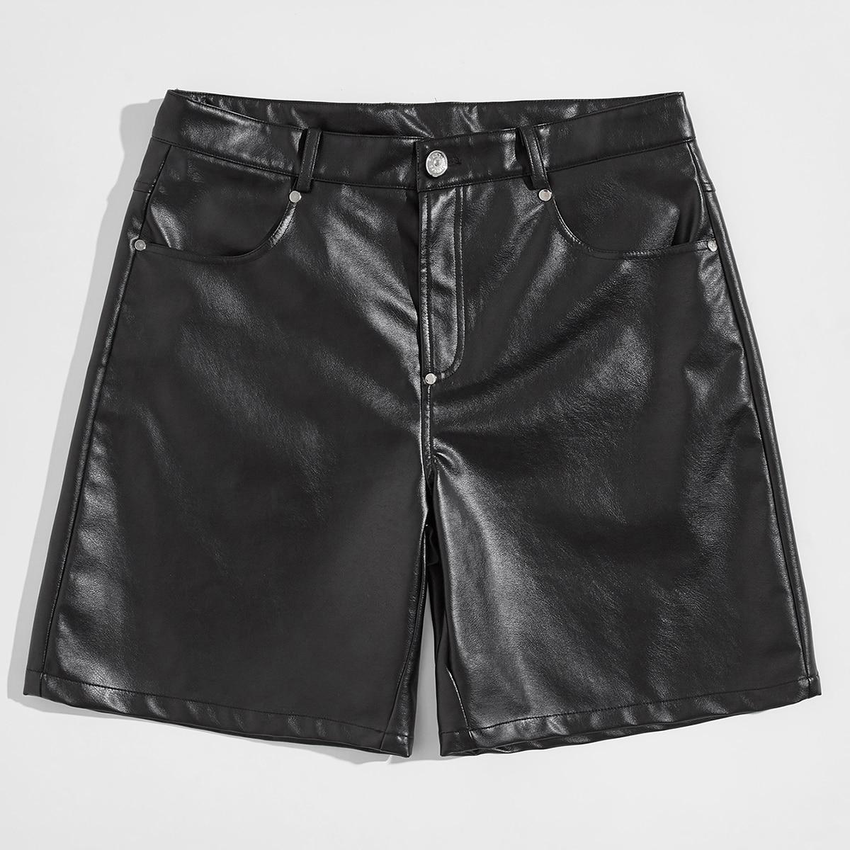 Мужские шорты из искусственной кожи
