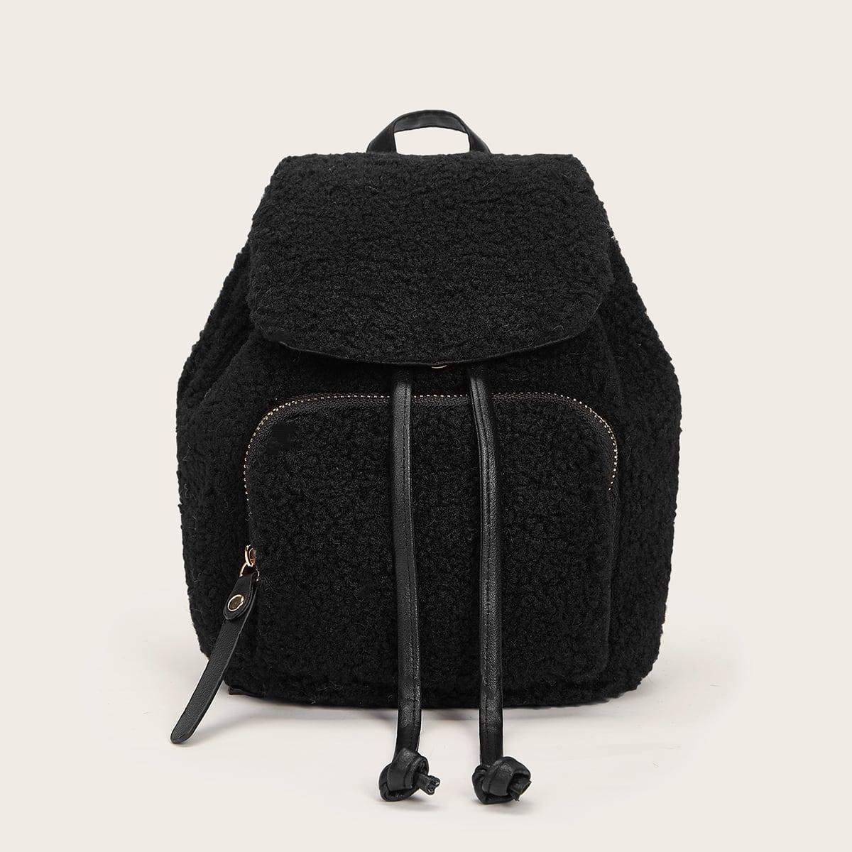 Рюкзак из искусственной овечьей шерсти