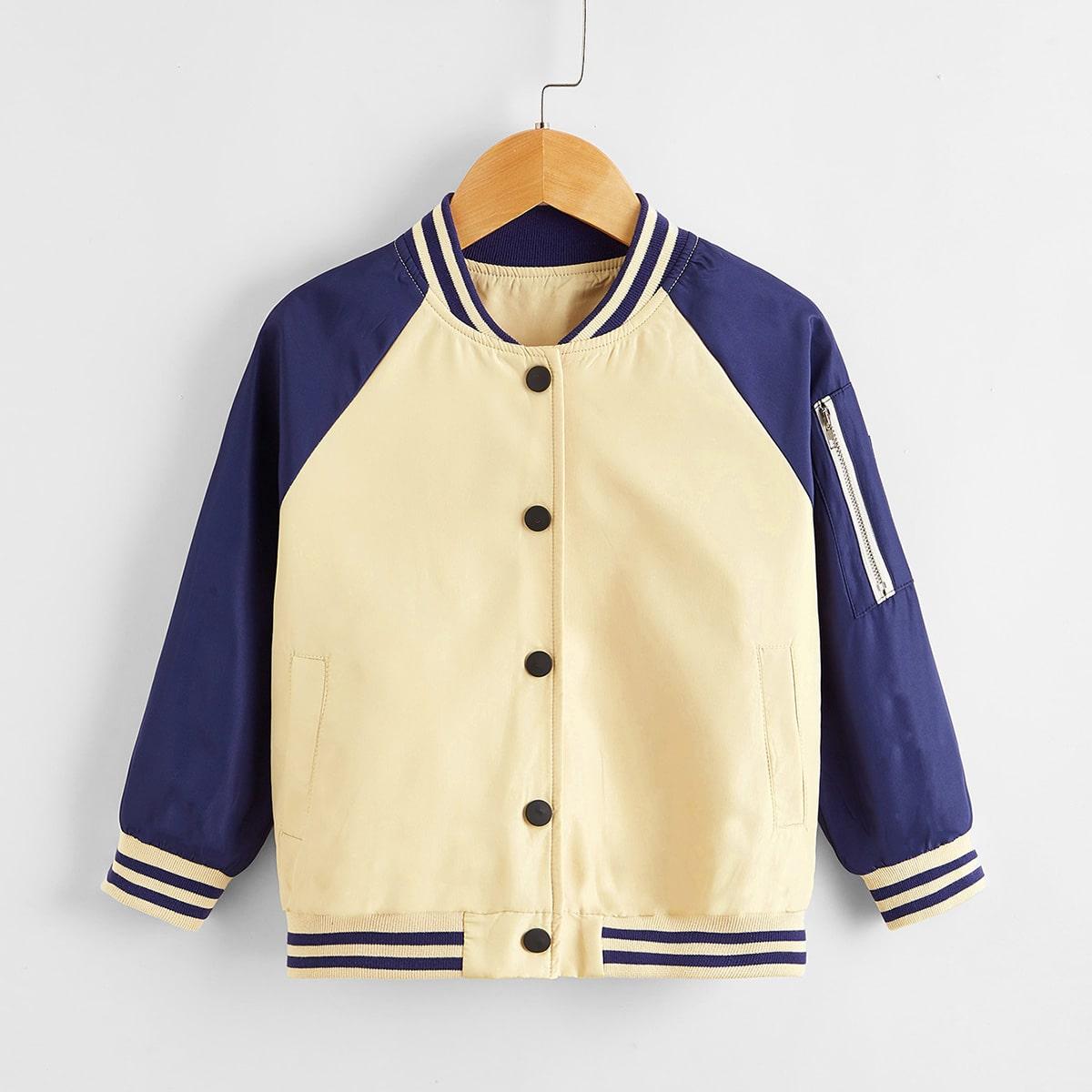 На молнии полосатый институтский куртки для мальчиков