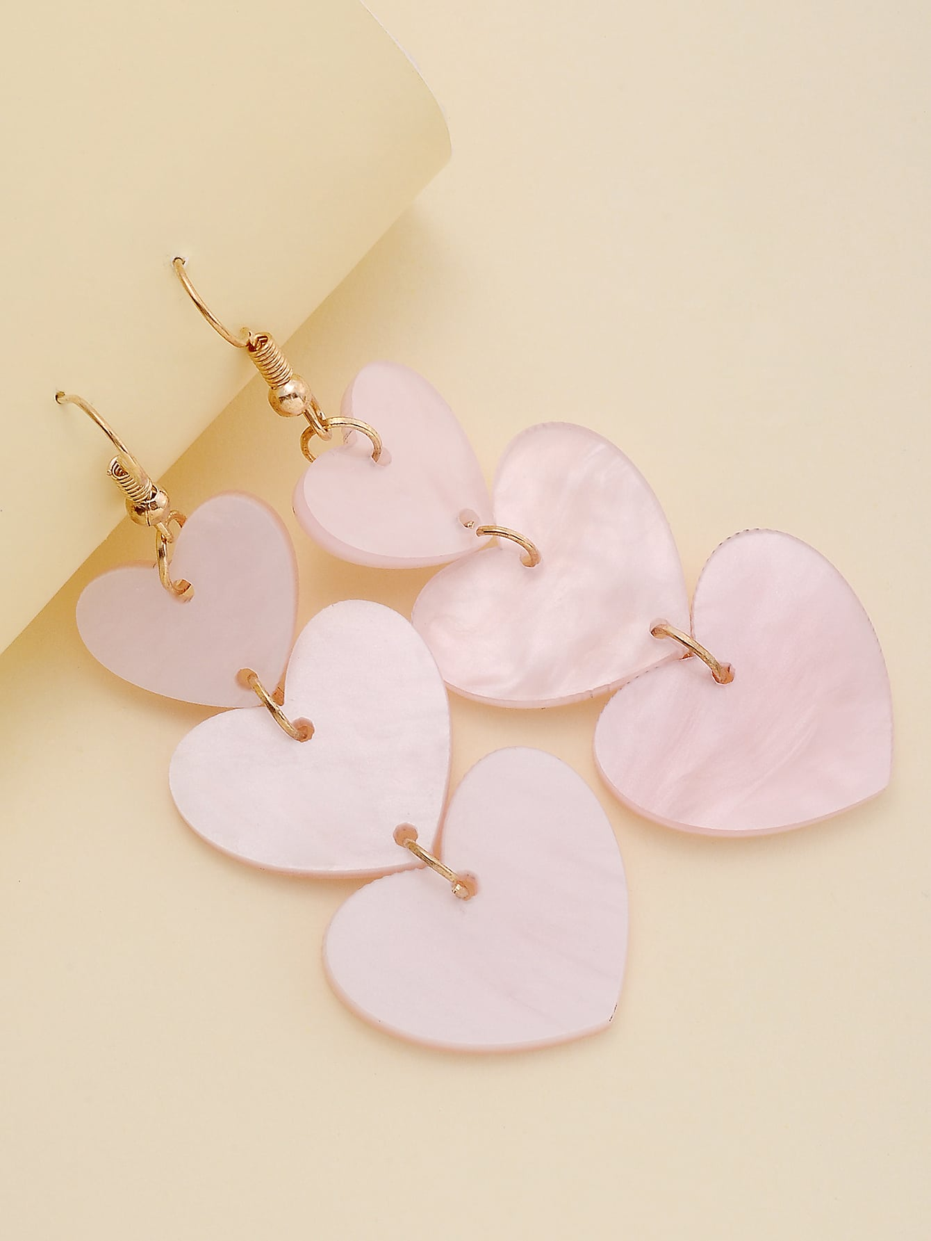 Link Heart Charm Drop Earrings thumbnail