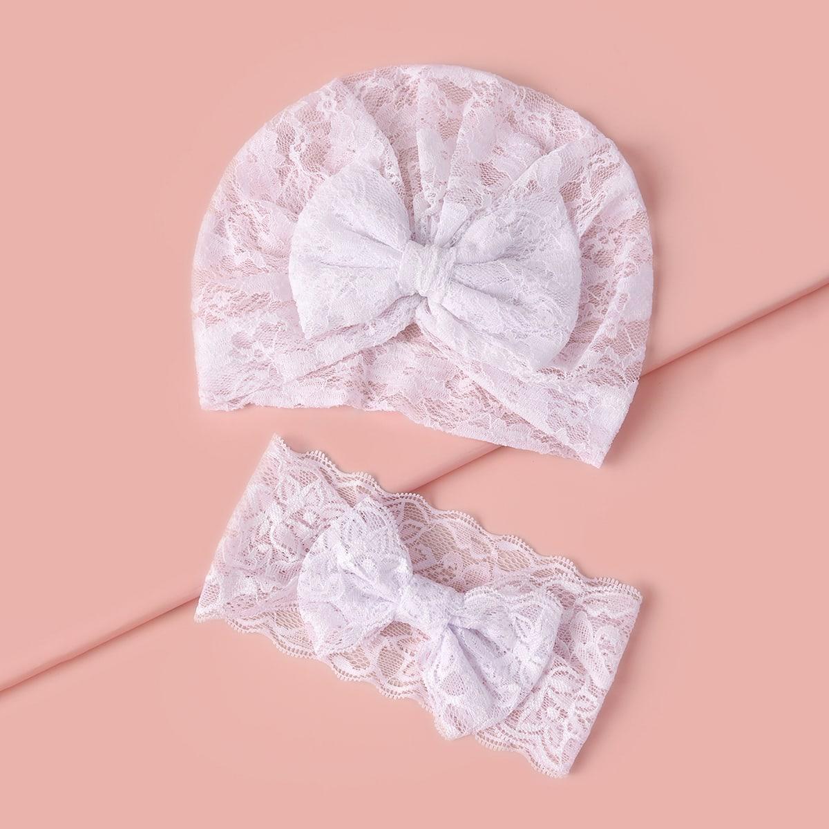 Baby Turban Hut mit Schleife Dekor & Stirnband
