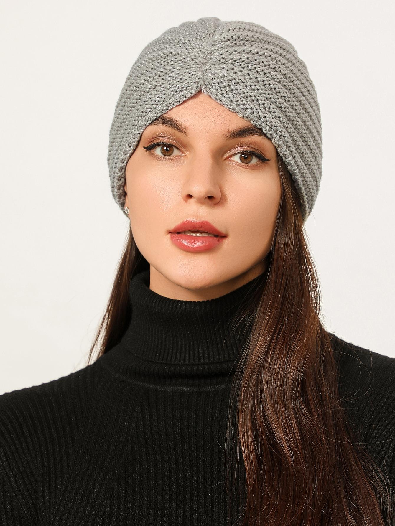 Plain Knit Turban Hat thumbnail