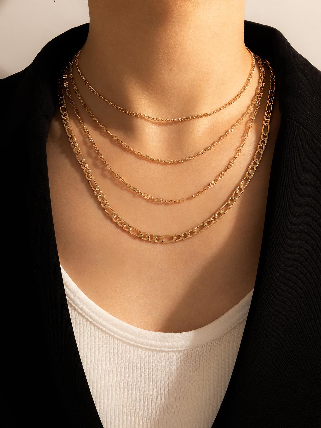 Metal Layered Necklace thumbnail