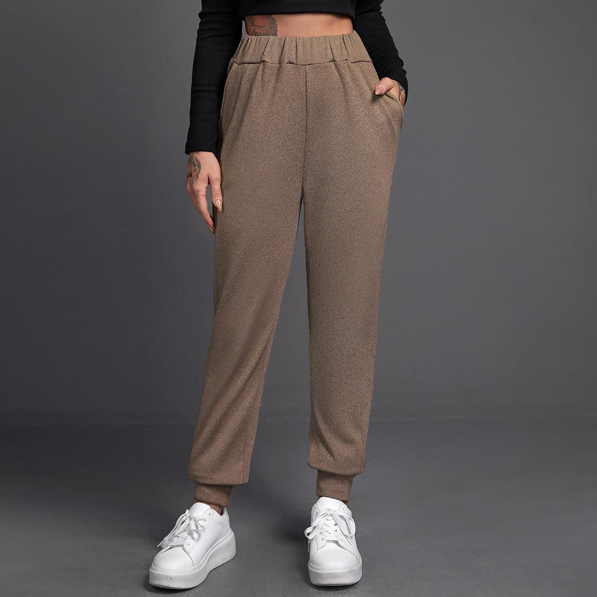 Спортивные брюки с карманом и эластичной талией