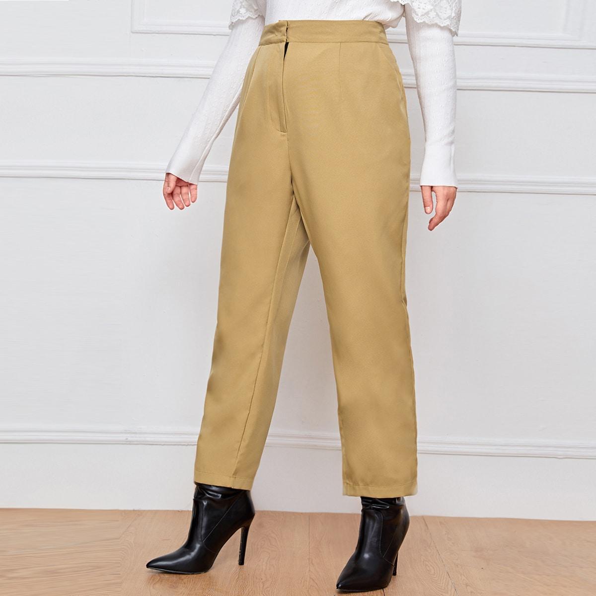 Кроп брюки размера плюс