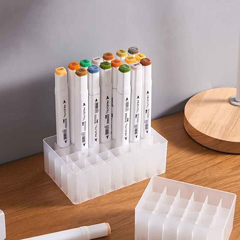 1pc Multi-grid Pen Holder, White