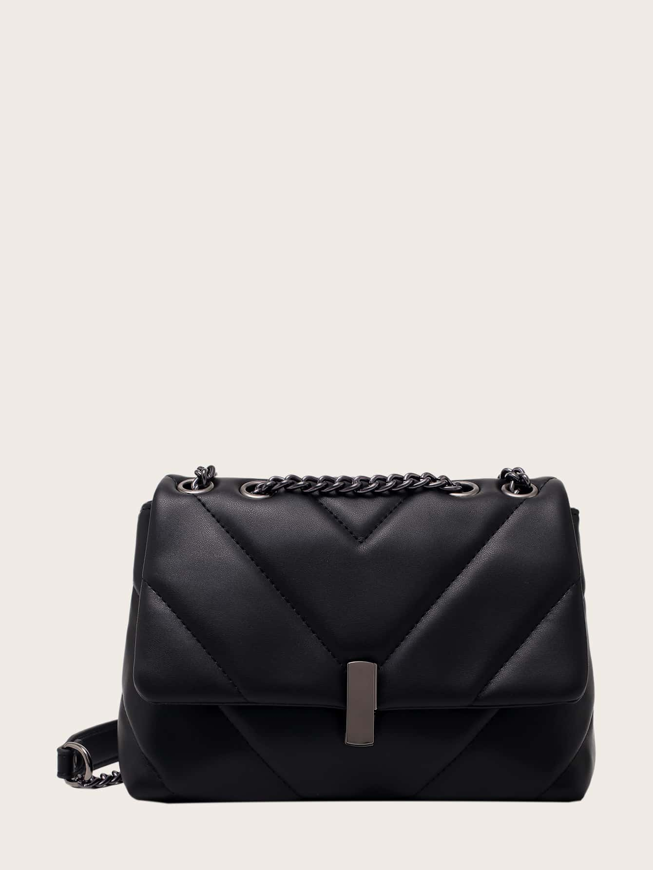 Chain Strap Quilted Shoulder Bag thumbnail