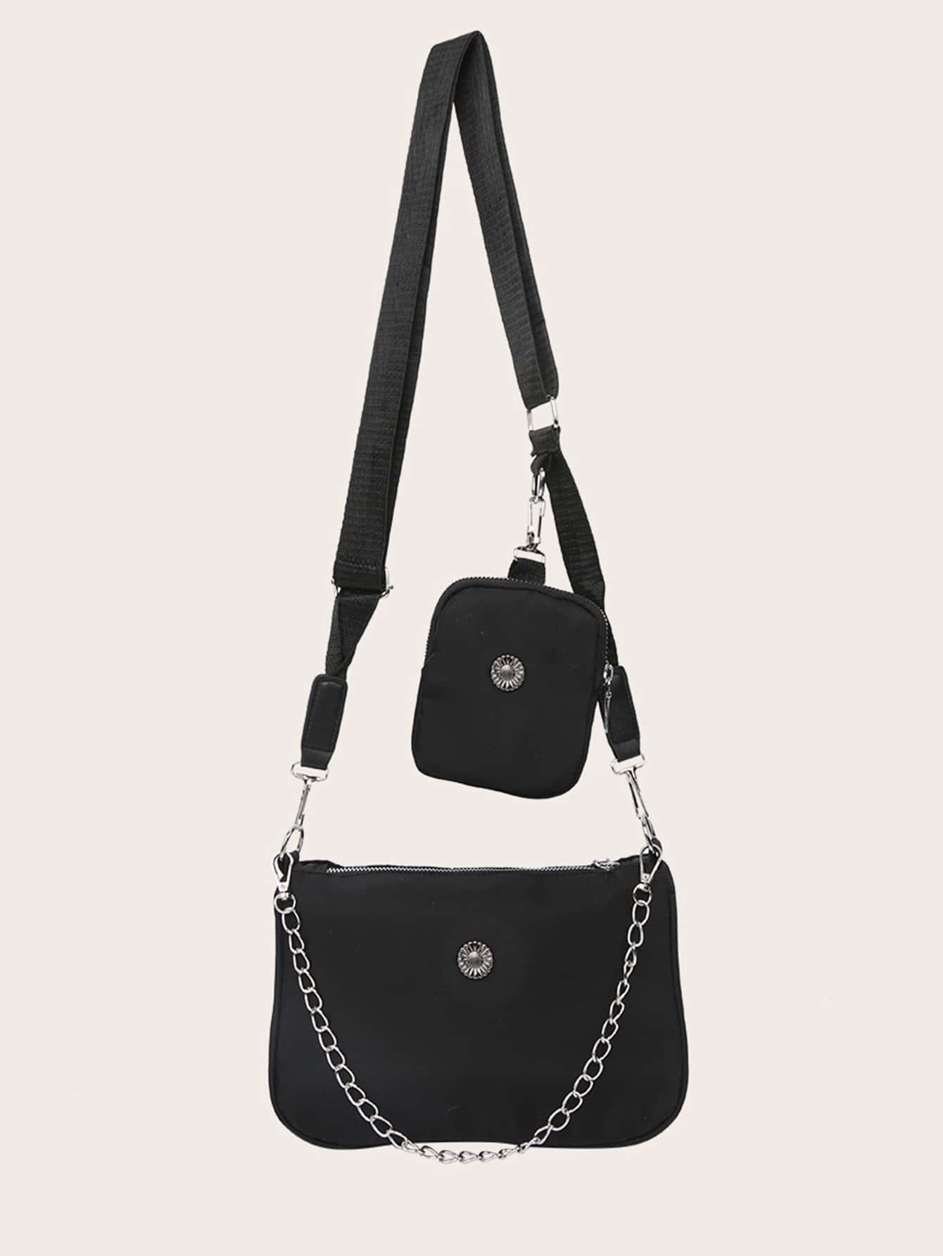 Chain Decor Crossbody Bag With Purse thumbnail