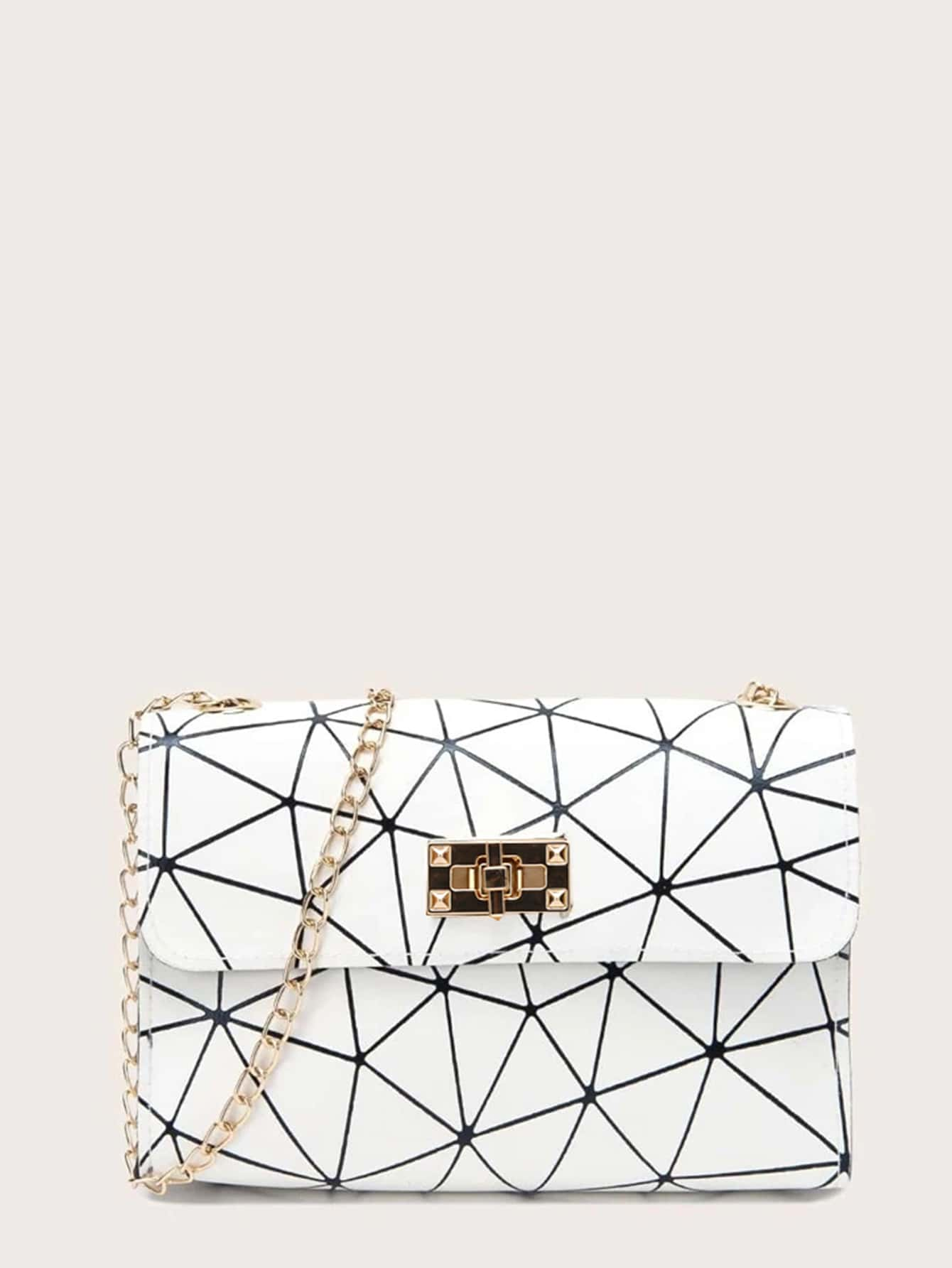 Geometric Pattern Chain Bag thumbnail
