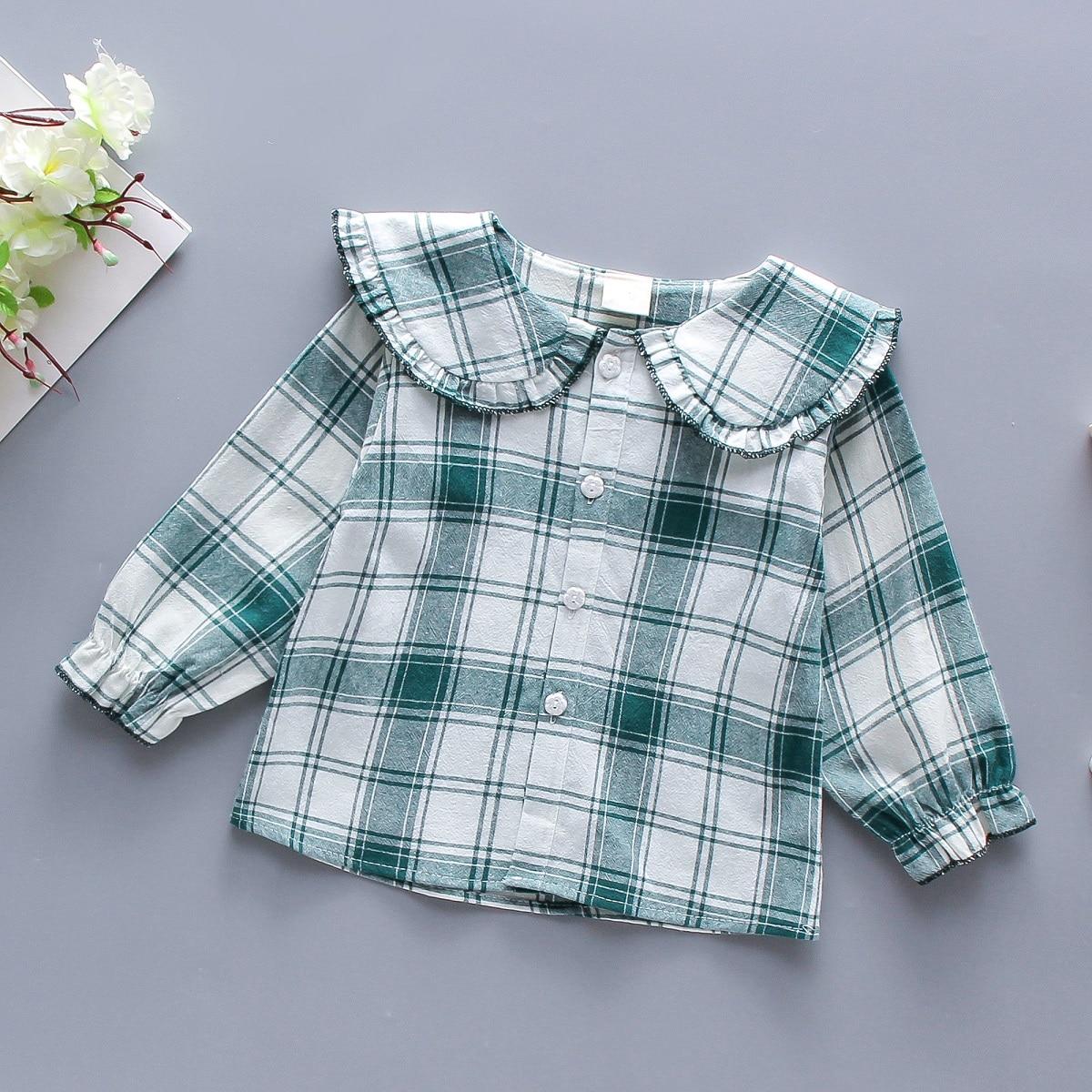 Блузка в клетку для девочек