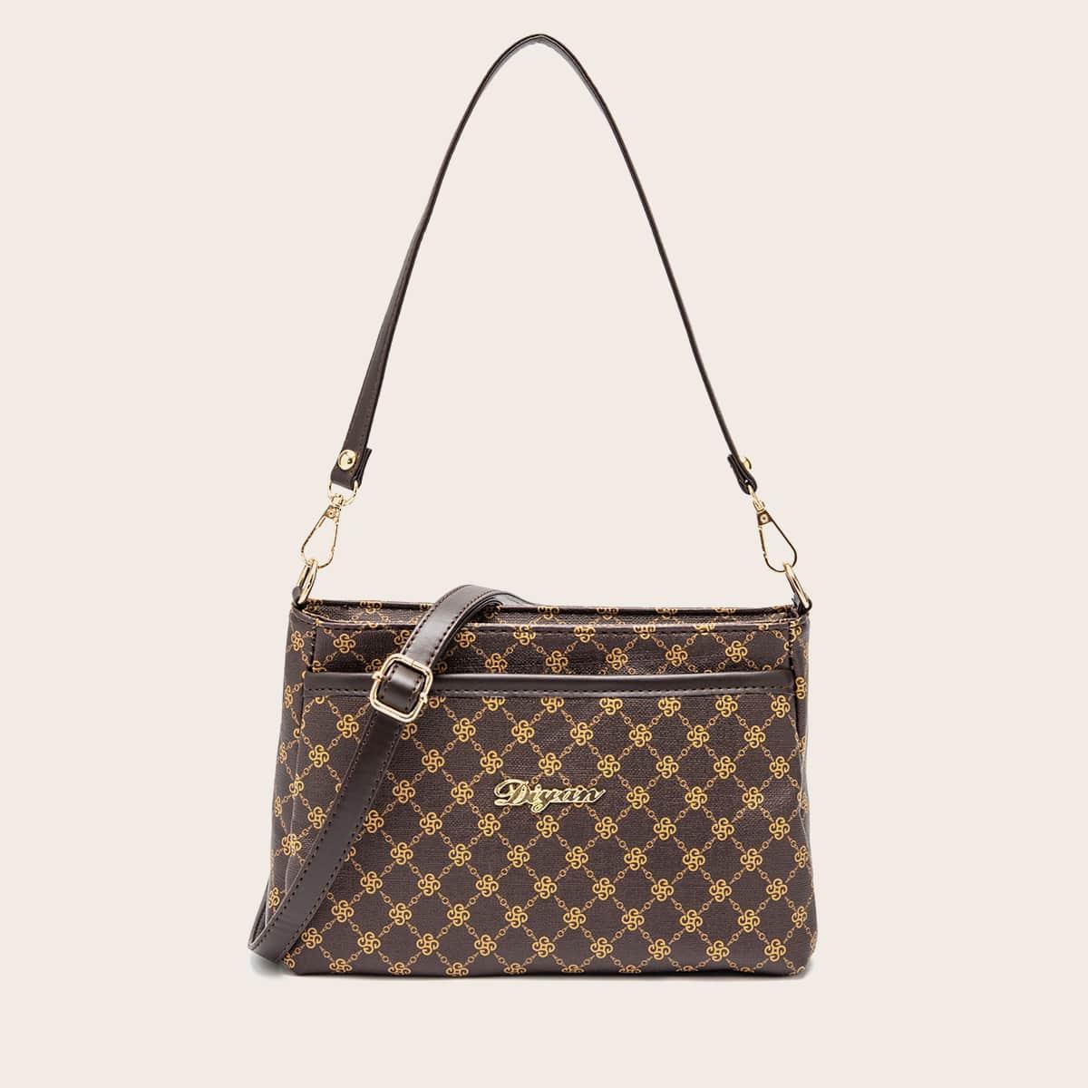 Регулируемый геометрический принт элегантный сумочка с