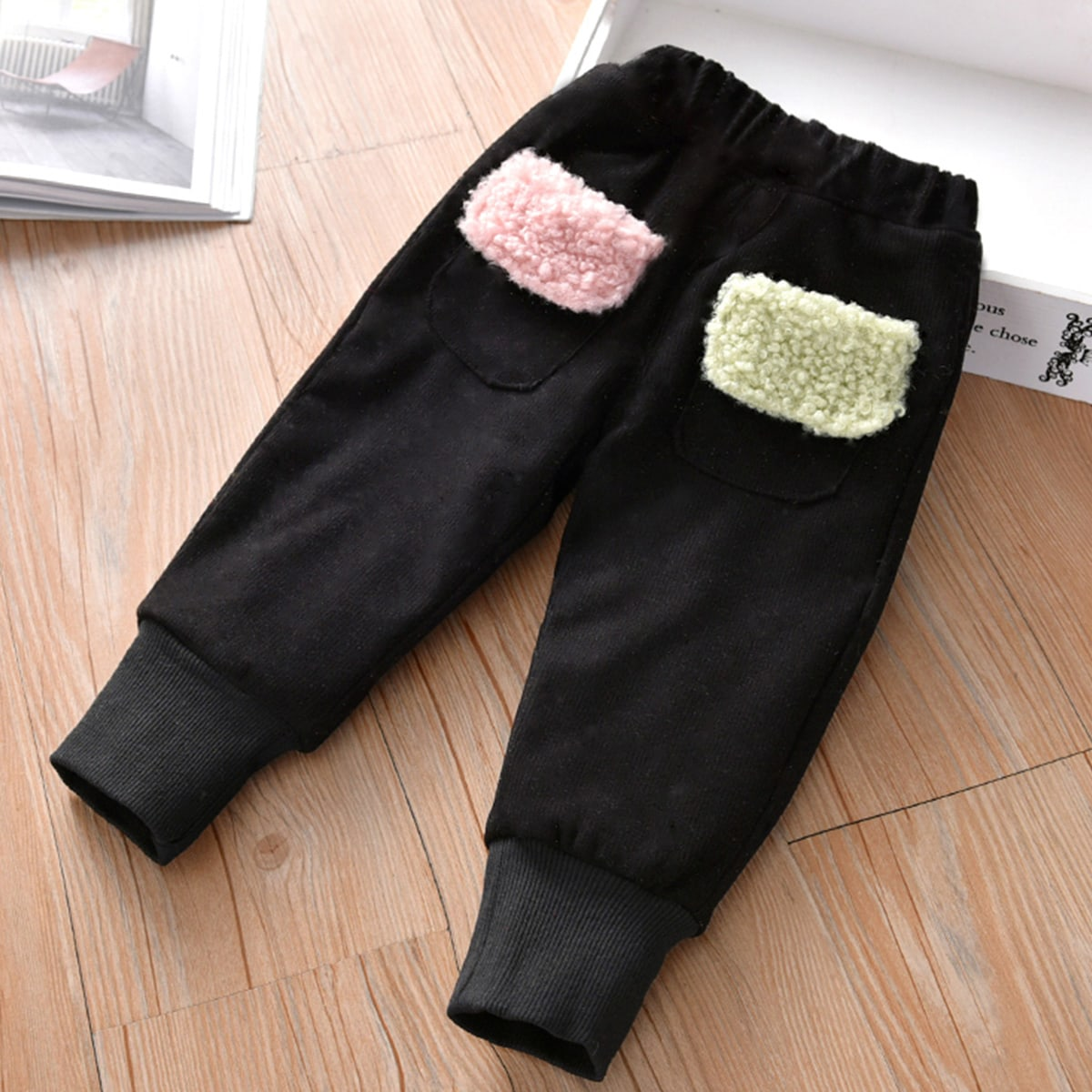 Плюшевые спортивные брюки для девочек