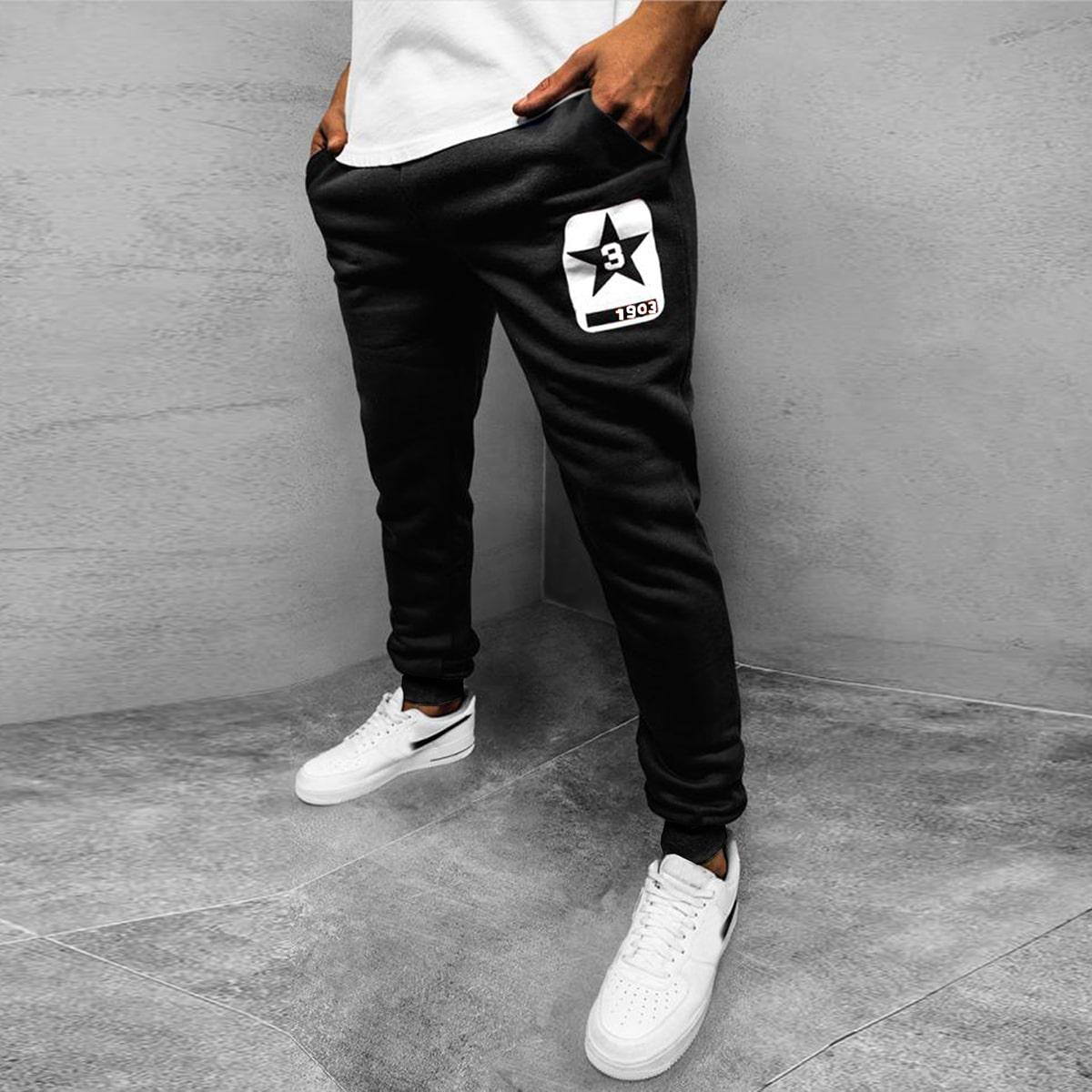 Мужские спортивные брюки с принтом звезды