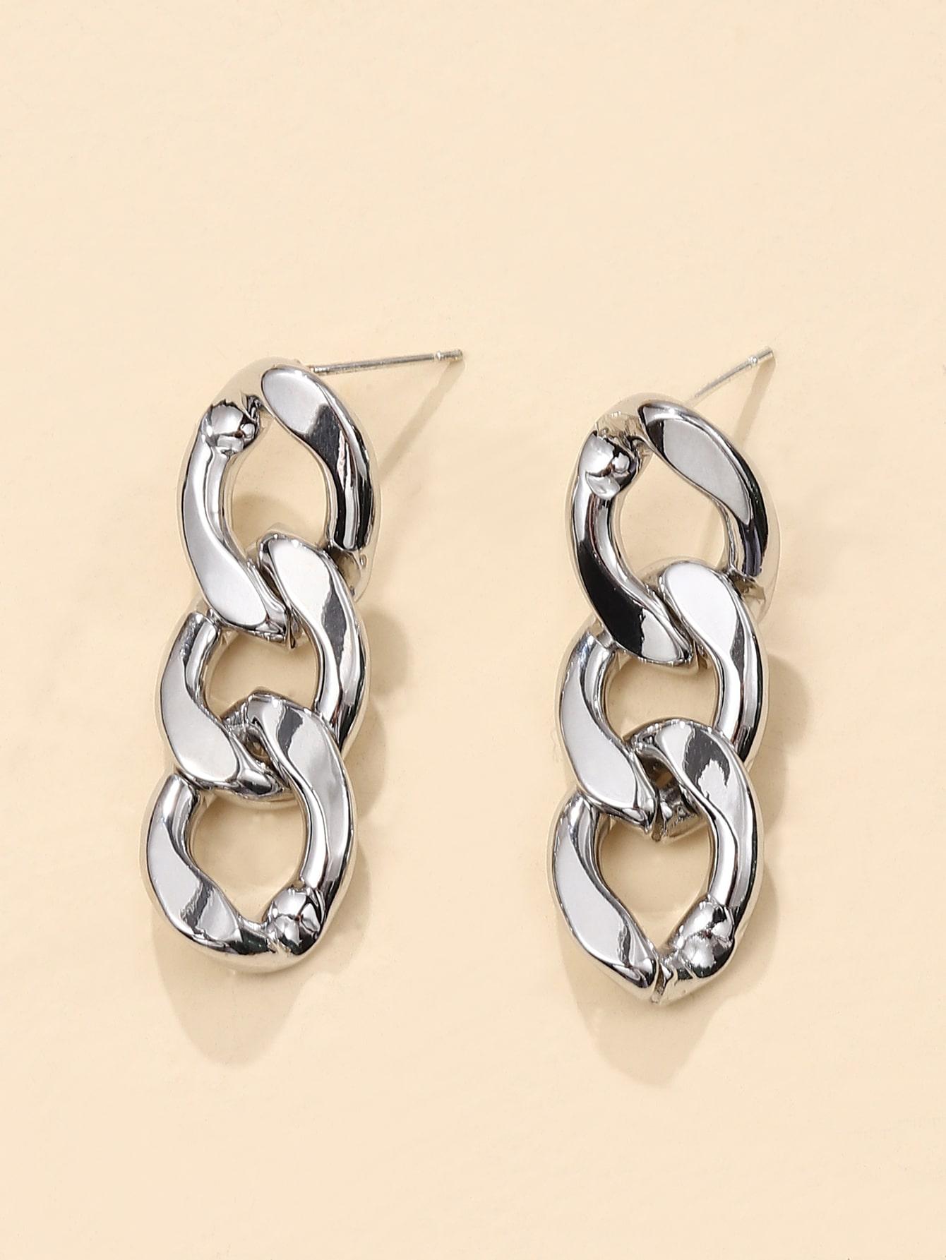 Chain Design Drop Earrings thumbnail