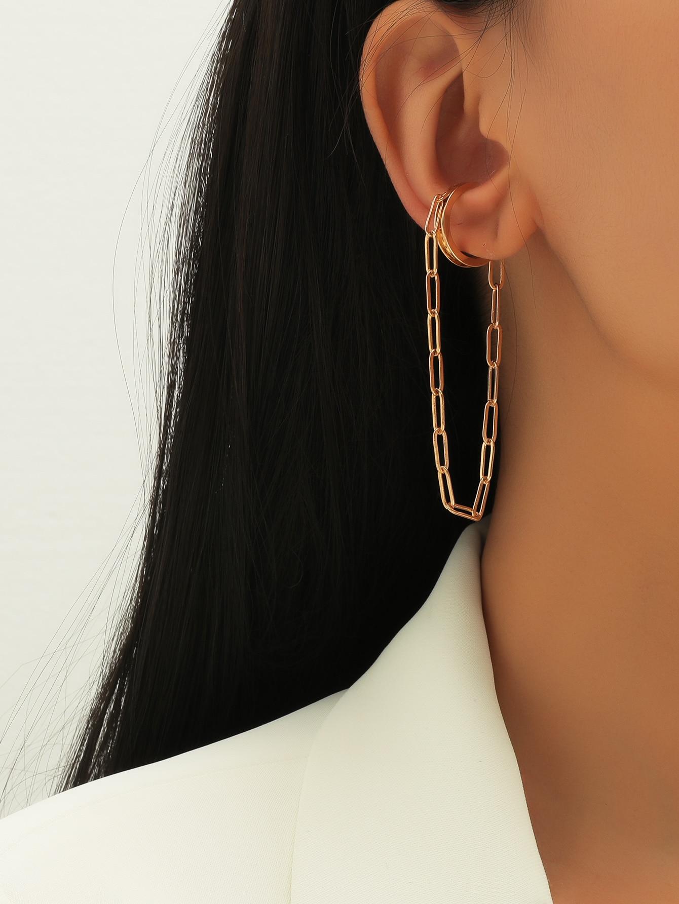 Chain Drop Ear Cuff thumbnail