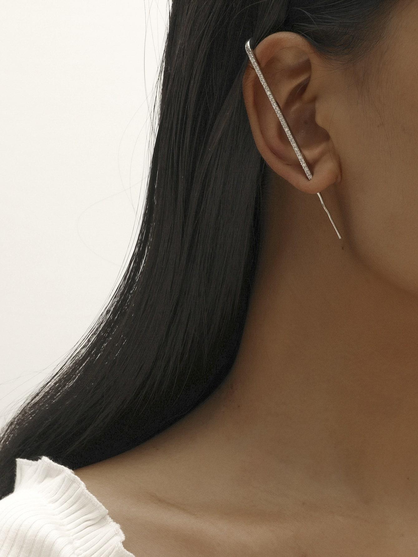 1pc Rhinestone Decor Earring thumbnail